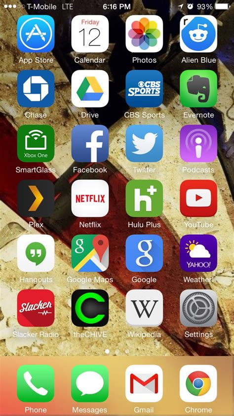 my home screen on my iphone 6 what apps am i