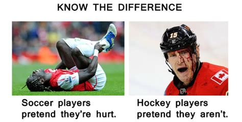 Soccer Hockey Meme - hockey vs soccer memes