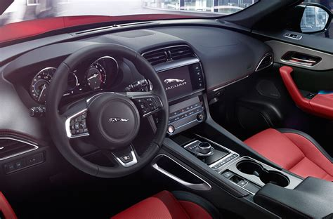 jaguar f pace inside the plush 2017 jaguar f pace interior