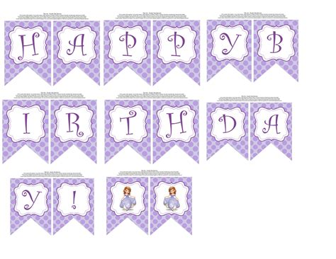 sofia the first happy birthday banner printable unavailable listing on etsy