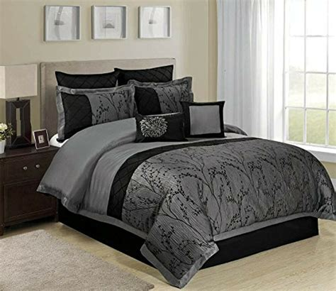 Duvet Bedding Sets King by 8 Weistera Jacquard Tree Branches Pattern Comforter