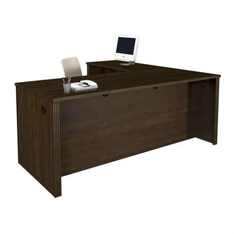 bestar prestige l desk bestar prestige l shape wood computer desk in chocolate