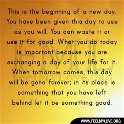 the start of day new day new beginning quotes like success