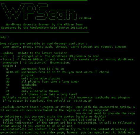 tutorial wpscan kali linux mencari celah keamanan wordpress menggunakan wpscan di