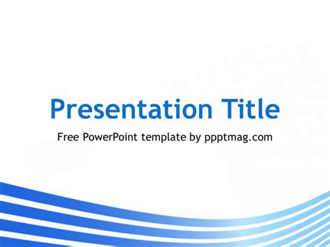 ppt templates free download blue free blue lines powerpoint template pptmag