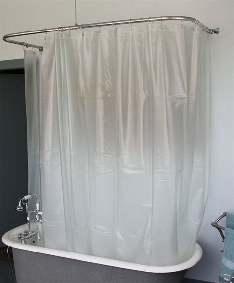 clawfoot tub shower curtain rod affordable shower rod for clawfoot tub the decoras