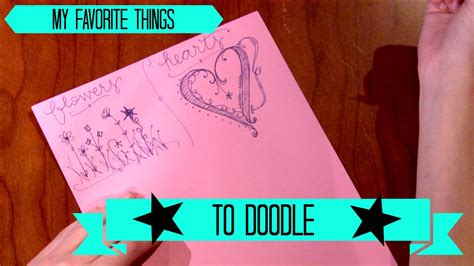 how to use favourite doodle doodling 101 my favorite things to doodle