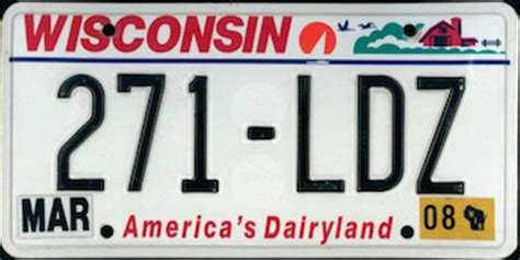 Wisconsin Vanity Plates by The Official Wisconsin State License Plate The Us50