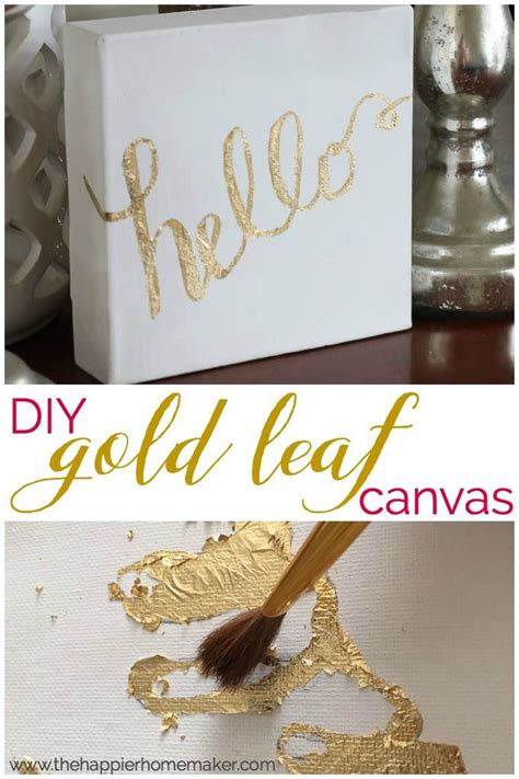 themes for canvas gold diy gold leaf canvas tutorial make your own art decor