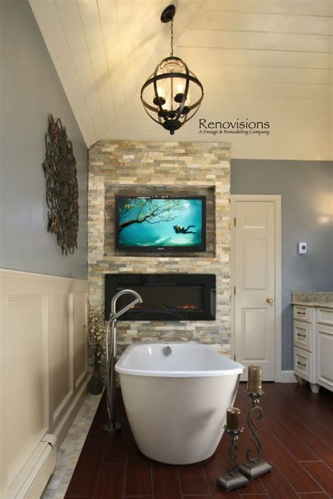 fireplace in bathroom wall master bathrooms master bath and masters on pinterest