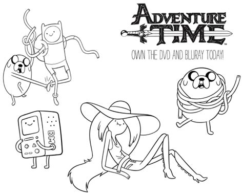 free cartoon network printable adventure time coloring