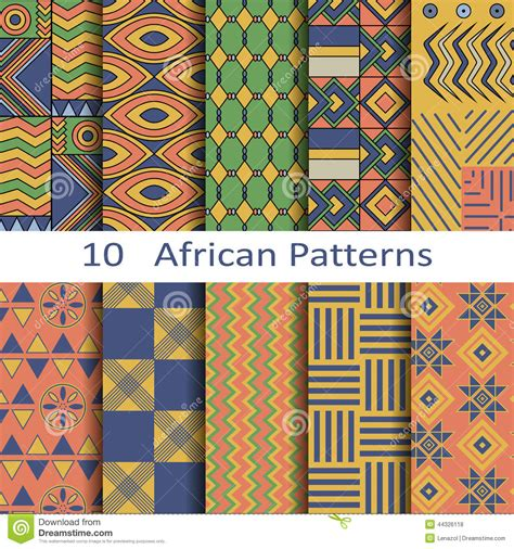 ndebele pattern vector set of ten african patterns stock vector image 44326118