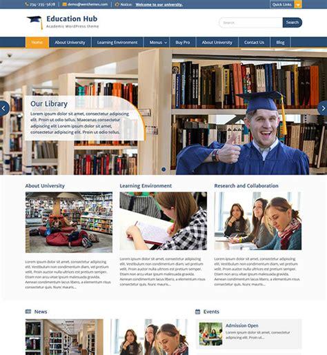 theme blogger education education hub free education wordpress theme beautiful
