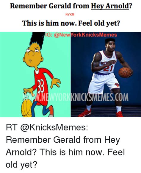 Hey Arnold Memes - remember gerald from hey arnold nykm this is him now feel