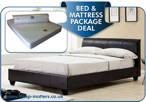 bed and mattress deals galaxy black faux leather bed combined with the eliocel