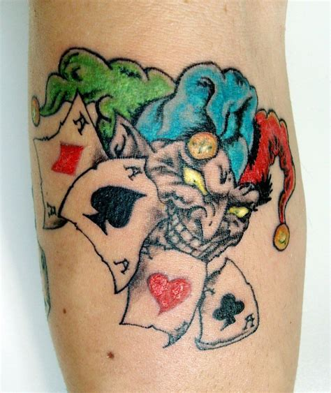 tattoo poker joker pictures to pin on pinterest tattooskid