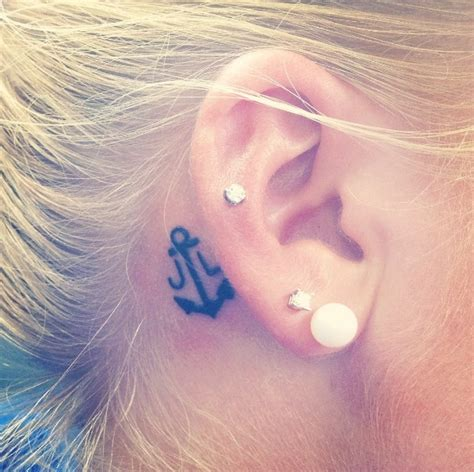 initial tattoo behind ear 248 best images about anchor tattoos on pinterest
