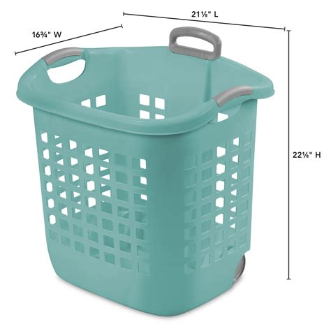 Laundry Baskets With Wheels Amazoncom Household Essentials Laundry With Wheels