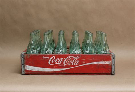 vintage coca cola wooden crate rustic home decor