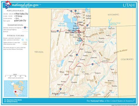 utah state map utah state maps interactive utah state road maps state maps