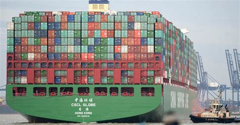 biggest container ships in the world 2018 bigger than the shard watch the world s largest container