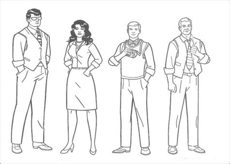 printable people coloring pages for young ages