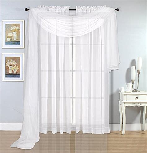 216 inch curtains premium white sheer scarves sheer curtains white