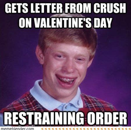 Anti Valentines Day Meme - bad luck brian letter on valentine s day bad luck