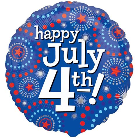 18 Foil Happy Holidays Stripes 17085 Isi 1 18 quot patriotic happy july 4th foil mylar balloon
