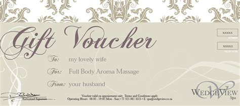 printable gift certificates for wife gift vouchers wedgeview country house and spa stellenbosch