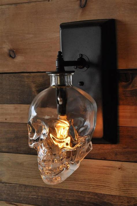 Batman Sconce The Skull Wall Sconce Made From Recycled Crystal Head Vodka