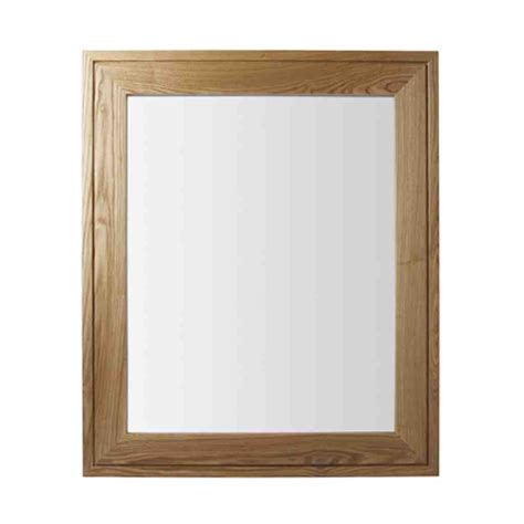 oak framed mirrors bathroom