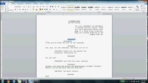 play writing template playwriting manuscript format