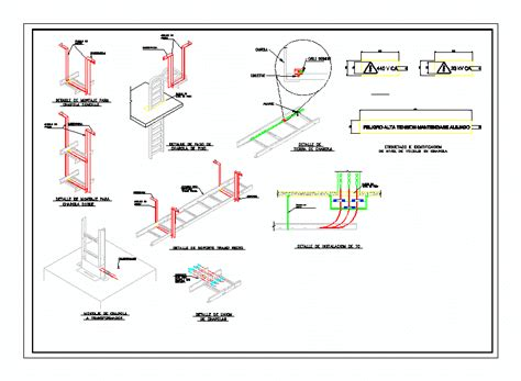 cable tray section detail detail mounting tray holder cable dwg detail for autocad