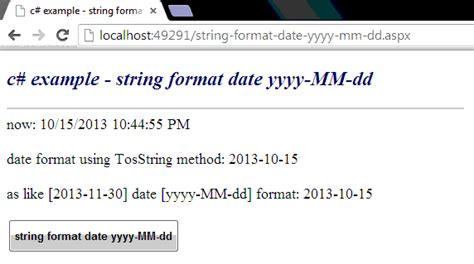 format date to string c how to format a date string as yyyy mm dd format