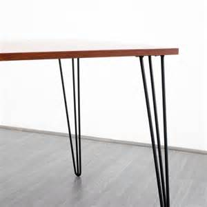 Dining Table Legs Metal Rosewood Dining Table With Metal Hairpin Legs 1960s For Sale At Pamono