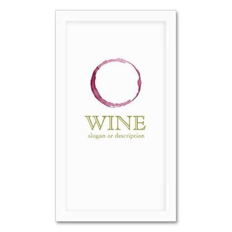 Wine Business Cards Templates by Wine Ring Stain Sommelier Sided Standard
