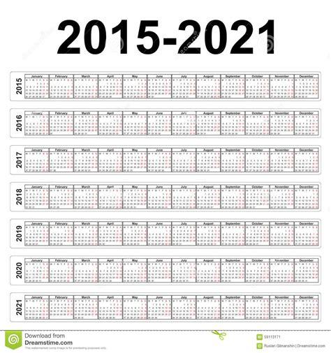 Mayan Calendar 2019 Seven Years Vector Calendars Stock Vector Image 59113171