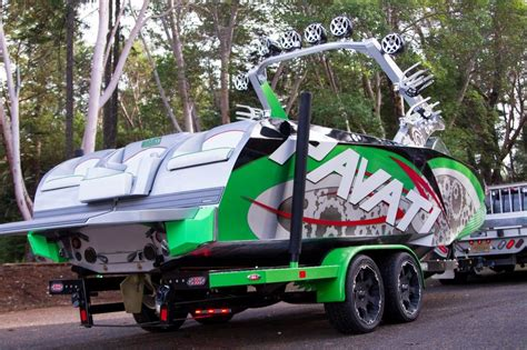 wakeboard boat on trailer pavati wakeboarding boat with a custom boat trailer