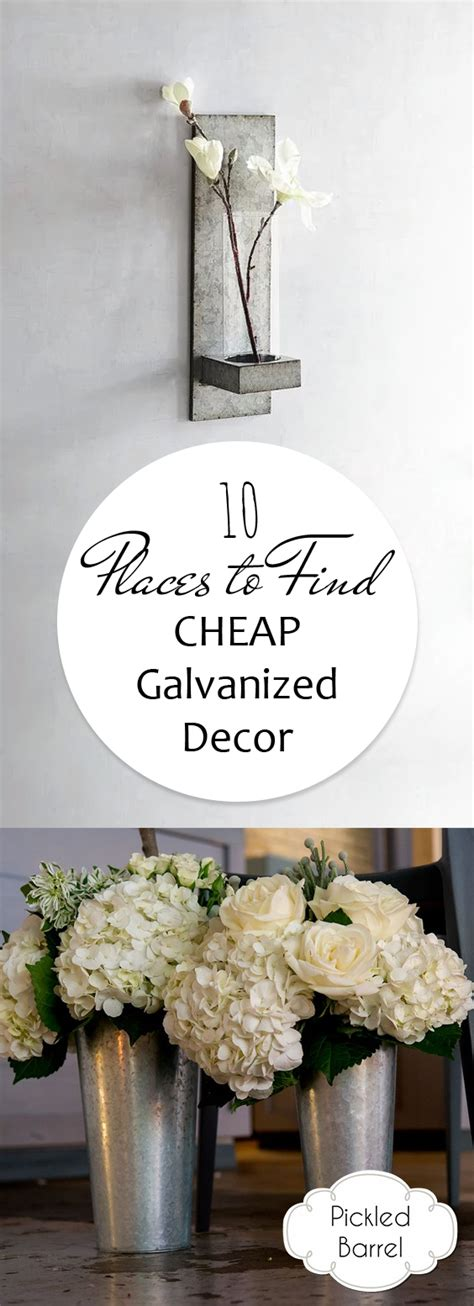 cheap places to buy home decor 10 places to find cheap galvanized decor pickled barrel