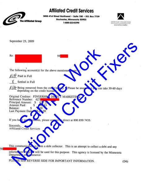 Sle Of Credit Repair Letters Credit Letter Sle Letter Idea 2018