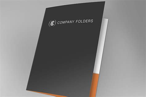 Front Open Folder Mockup Template Free Psd Folder Mockup Free