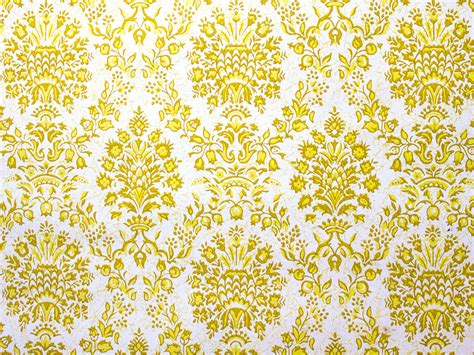 classic yellow wallpaper retro wallpaper vintage yellow and white damask pattern
