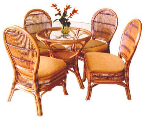 tropical safari  pc rattan  wicker dining set