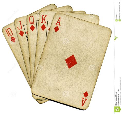 cards with photos royal flush vintage cards stock photography