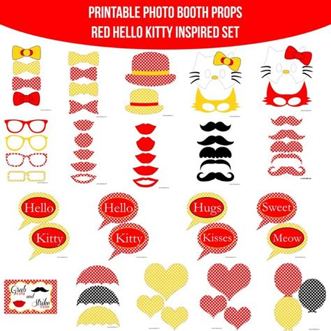 printable hello kitty photo booth props 69 best images about hello kitty party on pinterest