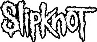 slipknot logo outline rub on sticker black within tab