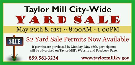 Garage Sale Finder Ky City Wide Yard Sale Gt City Of Mill Ky