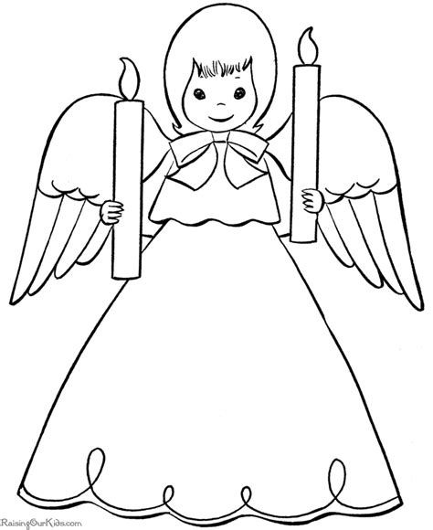 Angel Gabriel Coloring Pages For Kids The Coloring Pages Gabriel Coloring Page