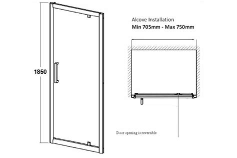 Atlantic Shower Door Atlantic 760mm Pivot Shower Door Trade Bathrooms Budget Shower Enclosures